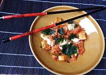 Rýže s kimchi a tofu