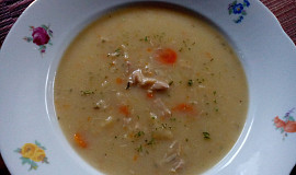 Zapražená kuřecí polévka