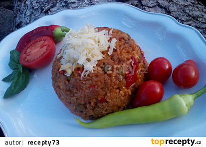 Dušené srbské rizoto s mletým masem
