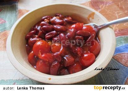 Fazolky s rajčátky a uzeninou