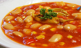 Fazolová polévka na způsob mexické