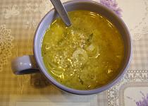 Konopná pórková polévka se sýrem