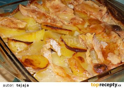 Krémové francouzské brambory se sýrem