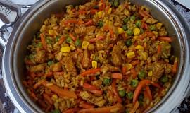 Kuřecí směs s rýží a zeleninou