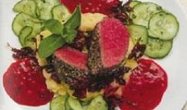 Malabarské pepřové steaky s jahodovou grilovací omáčkou