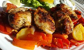 Provensálská křepelčí prsíčka s grilovanou zeleninou