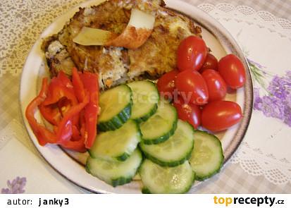 Vaječná omeleta se žampiony, bramborem a sýrem