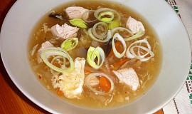 Čínská ostrokyslá polévka - moja imitácia