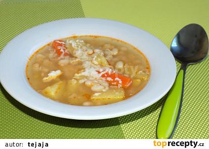 Fazolová polévka s mrkví