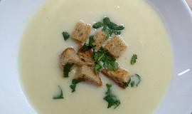 Krémová polévka s bramborem a česnekem