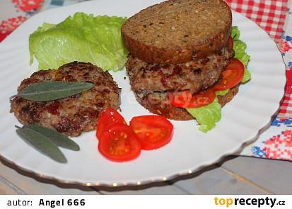 Krůtí burgery s brusinkami
