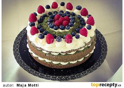 Mechový (špenátový) dort
