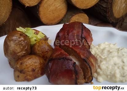 Mleté koule ve slanině s Romadurem