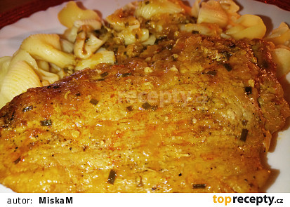 Voňavé česnekové telecí maso