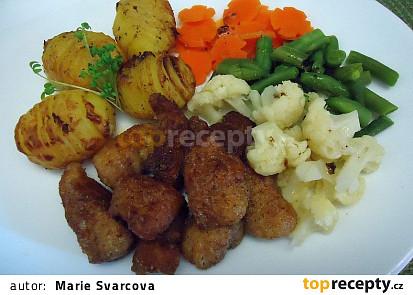 Africký sumeček se zeleninou na másle