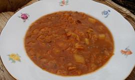 Kapustovo-bramborová polévka s mletým masem