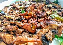 Pečená česneková hlíva na způsob číny