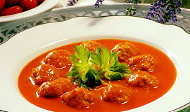 Rajská polévka s masovými knedlíčky