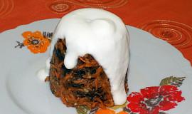 Jablkovo-švestkovo-mrkvový koláček