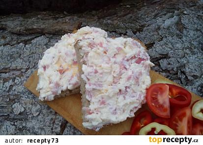 Sýrovo-šunková pomazánka s česnekem