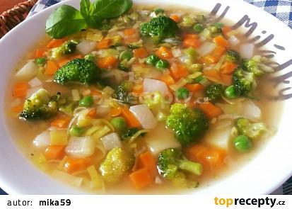 Zeleninová polévka vařená opačně