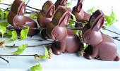 Čokoládoví zajíčci s kokosovou náplní