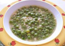 Hrášková polévka s tarhoňou - pro nejmenší