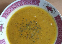 Pikantní cizrnová polévka se zázvorem