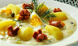 Pórková omáčka s vejci a kapary