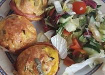 Vaječné muffiny se sýrem