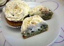 Zelené koláčky s krémem