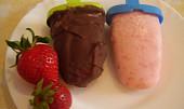 Domácí jahodovo-jogurtové nanuky
