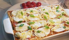 Hovězí lasagne s mozzarellou