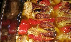 Masový špíz s paprikou a cibulí