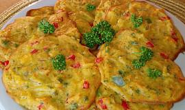 Barevné bramborové placičky s vůní oregana