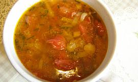 Hovězí polévka s rajčaty