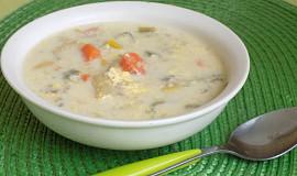 Kuřecí polévka se sýrem a quinoou