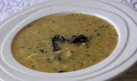 Kysaná mléčná polévka s houbami