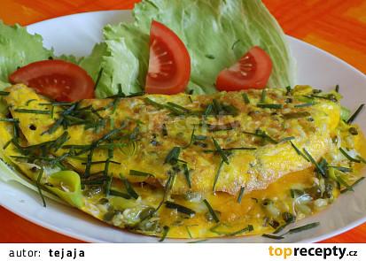Omeleta s klíčky mungo