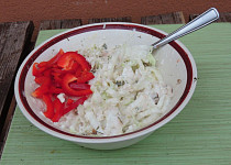 Salát s rybím masem