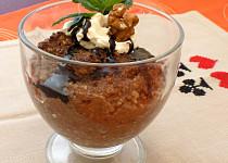Vločkovo-kakaový pudink s chia