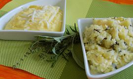 Bramborová kaše s česnekem a se sýrem