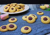 Křupavé máslové sušenky s belgickou čokoládou