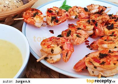 Pikantní krevety s citrusovým dipem