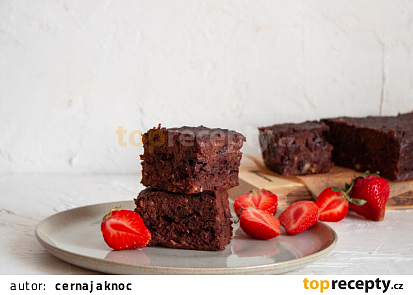 Cuketové brownies (vegan)