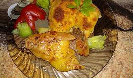 Obalené kuře se schovaným bramborem