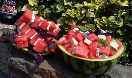 Osvěžující melounové špízy / salát