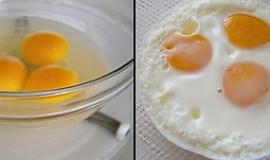 Tři vejce do skla z mikrovlnné trouby