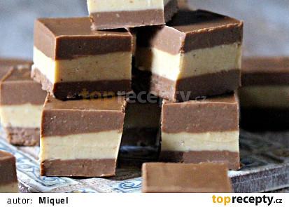 Arašídovo-čokoládové kostky