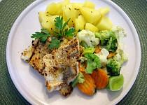 Candát se zeleninou na másle a bylinkách